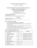 Đề thi thực hành Kỹ thuật chế biến món ăn năm 2012 (Mã đề LT13)