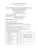 Đề thi thực hành Kỹ thuật chế biến món ăn năm 2012 (Mã đề LT49)