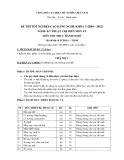 Đề thi thực hành Kỹ thuật chế biến món ăn năm 2012 (Mã đề LT8)