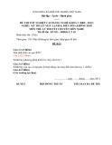 Đề thi & đáp án lý thuyết Kỹ thuật máy lạnh và điều hòa không khí năm 2012 (Mã đề LT10)