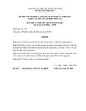 Đề thi & đáp án lý thuyết Kỹ thuật chế biến món ăn năm 2012 (Mã đề LT10)