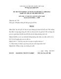 Đề thi & đáp án lý thuyết Kỹ thuật chế biến món ăn năm 2012 (Mã đề LT5)