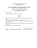 Đề thi & đáp án lý thuyết Kỹ thuật chế biến món ăn năm 2012 (Mã đề LT7)