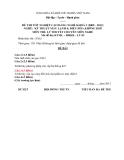 Đề thi & đáp án lý thuyết Kỹ thuật máy lạnh và điều hòa không khí năm 2012 (Mã đề LT3)