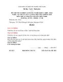 Đề thi & đáp án lý thuyết Kỹ thuật máy lạnh và điều hòa không khí năm 2012 (Mã đề LT6)