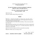 Đề thi & đáp án lý thuyết Kỹ thuật chế biến món ăn năm 2012 (Mã đề LT9)