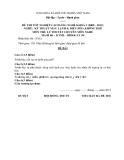 Đề thi & đáp án lý thuyết Kỹ thuật máy lạnh và điều hòa không khí năm 2012 (Mã đề LT50)