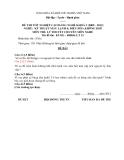 Đề thi & đáp án lý thuyết Kỹ thuật máy lạnh và điều hòa không khí năm 2012 (Mã đề LT12)
