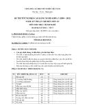 Đề thi thực hành Kỹ thuật chế biến món ăn năm 2012 (Mã đề LT17)