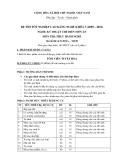 Đề thi thực hành Kỹ thuật chế biến món ăn năm 2012 (Mã đề LT9)
