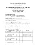 Đề thi thực hành Kỹ thuật chế biến món ăn năm 2012 (Mã đề LT50)