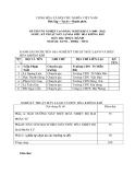 Đề thi thực hành Kỹ thuật máy lạnh và điều hòa không khí năm 2012 (Mã đề TH1)