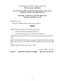 Đề thi & đáp án lý thuyết Kỹ thuật chế biến món ăn năm 2012 (Mã đề LT48)