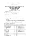 Đề thi thực hành Kỹ thuật chế biến món ăn năm 2012 (Mã đề LT4)