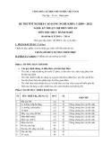 Đề thi thực hành Kỹ thuật chế biến món ăn năm 2012 (Mã đề LT16)