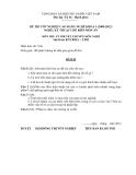 Đề thi & đáp án lý thuyết Kỹ thuật chế biến món ăn năm 2012 (Mã đề LT2)