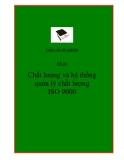 Luận văn tốt nghiệp: Chất lượng và hệ thống quản lý chất lượng ISO 9000