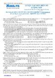 Chuyên đề LTĐH môn Sinh học: Luyện tập đột biến số lượng NST