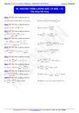 Toán học lớp 10: Phương trình lượng giác cơ bản (phần 2) - Thầy Đặng Việt Hùng