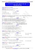 Toán học lớp 10: Tập hợp và các phép toán về tập hợp (phần 2) - Thầy Đặng Việt Hùng
