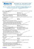Chuyên đề LTĐH môn Sinh học: Đột biến NST-Đột biến đa bội