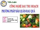 Bài tiểu luận: Phương pháp bảo quản rau quả