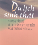 Ebook Du lịch sinh thái: Những vấn đề về lý luận và thực tiễn phát triển ở Việt Nam (Phần 2) - Phạm Trung Lương (chủ biên)
