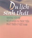 Những vấn đề về lý luận và thực tiễn phát triển ở Việt Nam -  Du lịch sinh thái: Phần 3