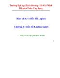 Bài giảng Hàm phức và biến đổi laplace - Chương 2: Biến đổi laplace ngược