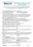 Chuyên đề LTĐH môn Sinh học: Đột biến số lượng NST-Đột biến lệch bội