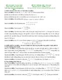 Đề thi thử Đại học môn Toán khối A, A1, B năm 2014 - GV. Lại Văn Long