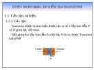 Bài giảng: BTƯD Nhận dạng, đo, kiểm tra Transistor lưỡng cực