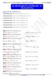Toán học lớp 11: Một số dạng phương trình lượng giác thường gặp (phần 3) - Thầy Đặng Việt Hùng