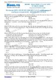 Chuyên đề LTĐH môn Vật lý: Hoạt động của lực kéo về trong dao động điều hòa