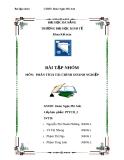 Bài tập nhóm môn Phân tích tài chính doanh nghiệp: Phân tích tài chính công ty cổ phần Chế biến gỗ Thuận An - GVHD: Đoàn Ngọc Phi Anh