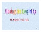 Bài giảng Vi khuẩn gây bệnh đường tình dục - TS. Nguyễn Trọng Hiệp