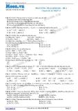 Hóa học lớp 11 - Chuyên đề Sự điện li: Phản ứng trao đổi ion (Đề 2)