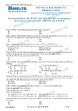 Chuyên đề LTĐH môn Hóa học: Dẫn xuất halogen của hidrocacbon