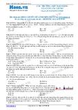 Chuyên đề LTĐH môn Vật lý: Các trường hợp dao động của con lắc lò xo