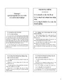 Bài giảng Tài chính doanh nghiệp - Chương 5: Quyết định cơ cấu vốn của doanh nghiệp