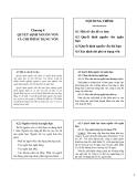 Bài giảng Tài chính doanh nghiệp - Chương 4: Quyết định nguồn vốn và chi phí sử dụng vốn