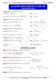 Toán học lớp 11: Phương trình lượng giác có chứa căn - Thầy Đặng Việt Hùng