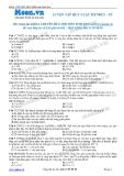Chuyên đề LTĐH môn Sinh học: Luyện tập quy luật menden (phần 2)