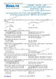 Chuyên đề LTĐH môn Hóa học: Anđehit-xeton-axit cacboxylic khái niệm đồng phân-danh pháp (Đề 2)