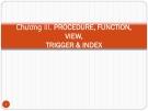 Bài giảng Chương III: Procedure, Function, View, Trigger & Index