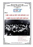 Đề tài: Việc giải quyết vấn đề Đức sau chiến tranh thế giới thứ hai - ĐH Sư phạm TP Hồ Chí Minh