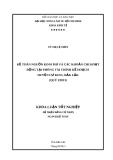 Luận văn tốt nghiệp: Kế toán nguồn kinh phí và các khoản chi hoạt động tại phòng tài chính kế hoạch huyện Kuin-Đăk Lăk (Quý I/2013)