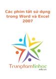 Các phím tắt sử dụng trong Word và Excel