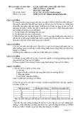 Đề thi học sinh giỏi cấp tỉnh môn Sinh học 12 năm 2012 (Buổi 1 - ngày 14/11/2012)  - Sở GD&ĐT Long An