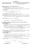 Đề thi kiểm tra chất lượng môn Toán lớp 12 - Trường THPT chuyên Lam Sơn năm 2010 - 29011 (Kèm đáp án)